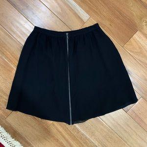 Flowy Club Monaco Skirt with Zipper Detail size 6
